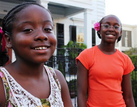 Family Vacation, New Orleans - Shania, left and Katia, right