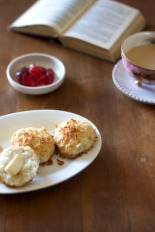 Coconut Biscuits with Jam