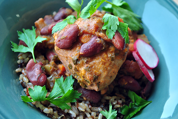 Red Beans And Chicken With Wild Rice Kwanzaa Culinarians