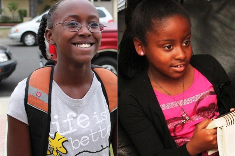 The girls - Katia, 12, Shania, 10