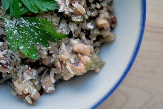 Black Eye Pea and Wild Brown Rice Risotto by Sanura Weathers of MyLifeRunsOnFood.com