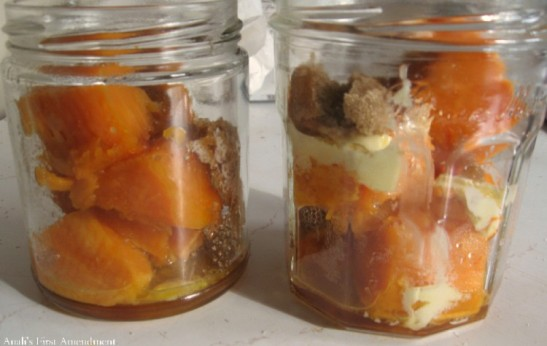 Candied Sweet Potatoes in Jars