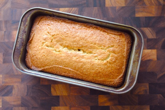 Baked Apricot Jam Pound Cake Top - The Duo Dishes