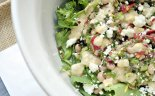 Black-eye Pea and Kale Salad with Chickpea Vinaigrette