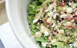 Black-eye Pea and Kale Salad with Chickpea Vinaigrette