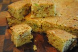 Buttermilk Caramelized Onion Cornbread Sliced - The Duo Dishes
