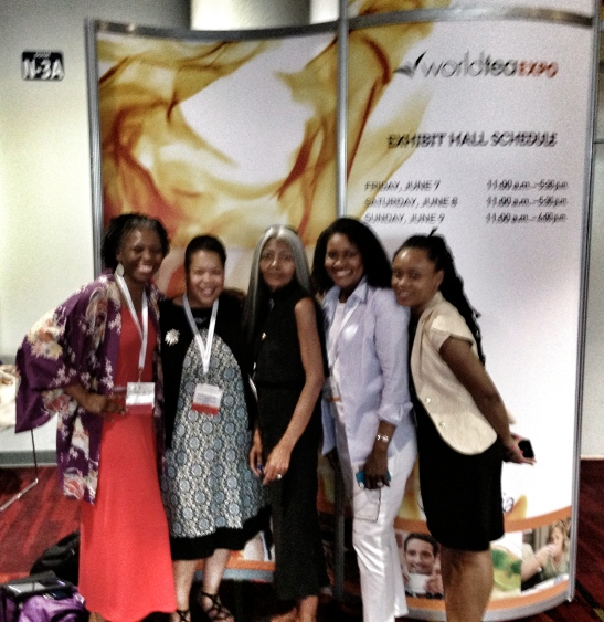 Pictured: Verna L. Hamilton, Darlene Meyers-Perry, Jo Johnson, Erica Morrison, Tiffanydenise at World Tea Expo 2013