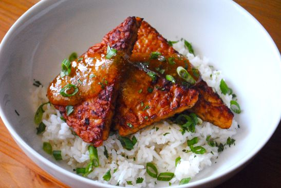 Marinated Tempeh Spicy Apricot Sauce 1 - The Duo Dishes