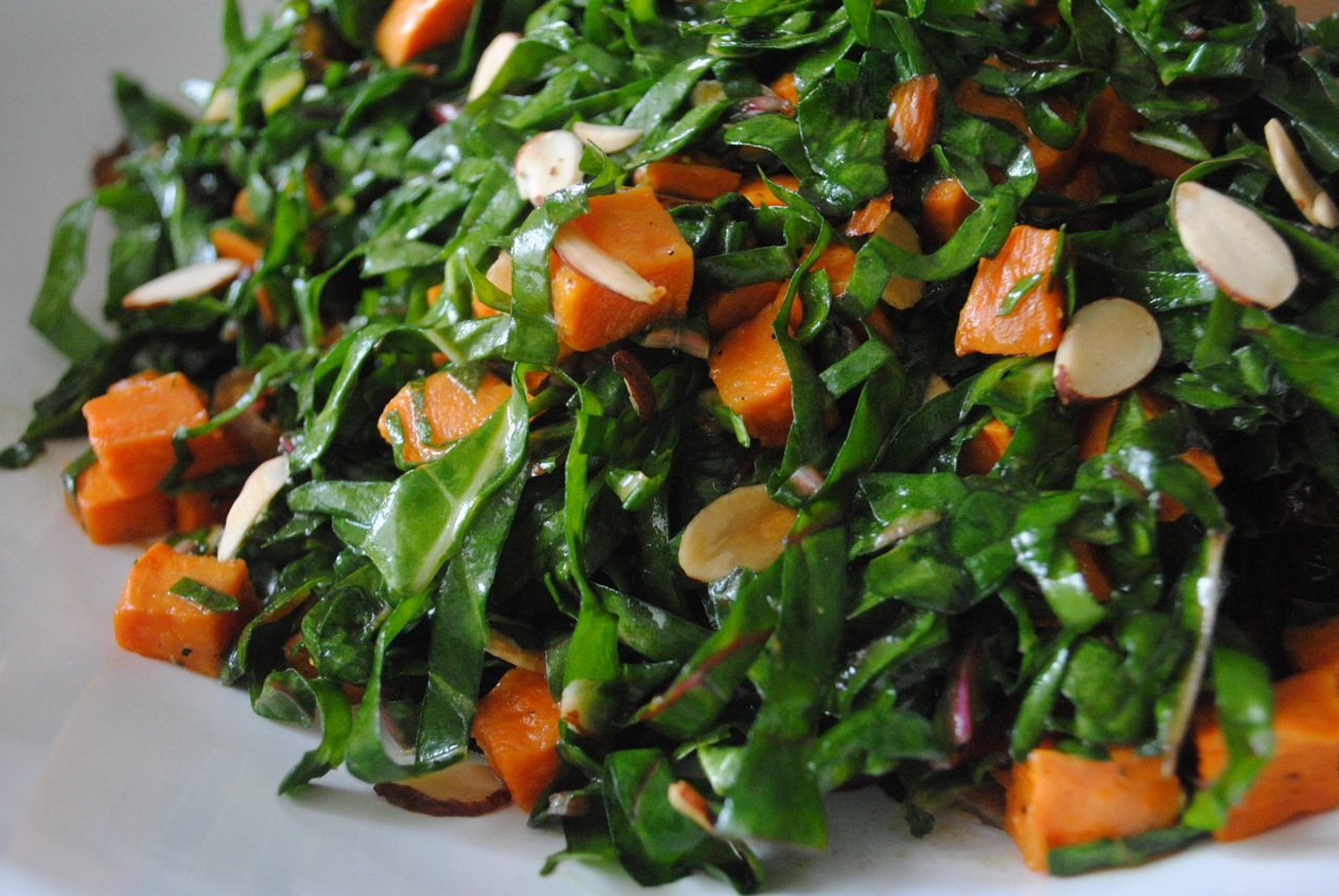 Roasted Sweet Potato And Swiss Chard Salad Kwanzaa Culinarians