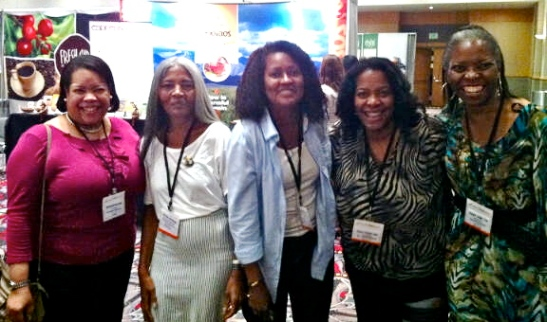 Pictured Above; Darlene Meyers-Perry, Jo Johnson, Erica Morrison, Angelina Lundy, and Verna L. Hamilton at the World Tea East, 2012