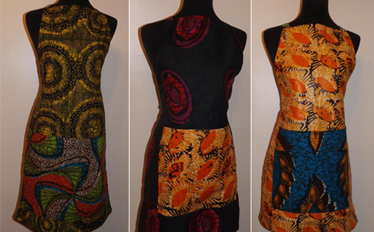 African-Print Aprons by Daffina