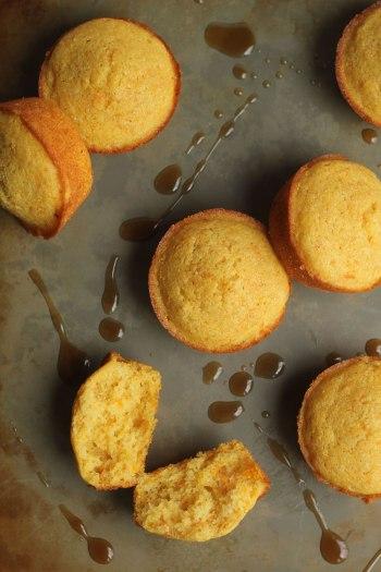 Maple Rum Sweet Potato Cornbread Muffins
