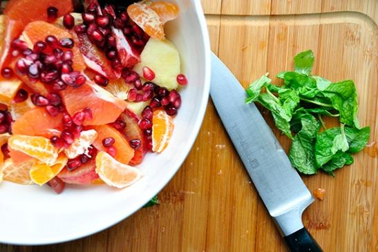 Prepping Ambrosia Salad
