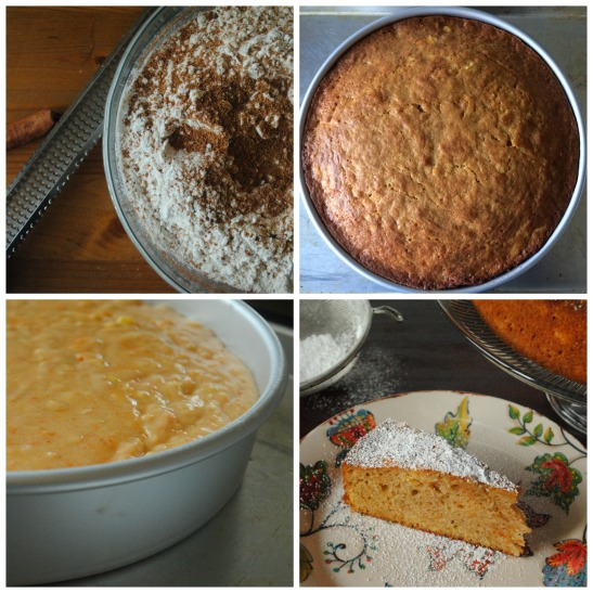 Sweet Potato Mango Cake Collage - The Duo Dishes