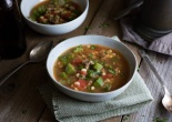 Sausage and Vegetable Stew/Soup with Okra by Savory Spice Rack