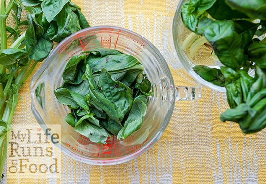 Basil leaves by Sanura Weathers of MyLifeRunsOnFood.com